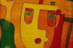 Gesichter irgendwie (20 x 20 cm) 40 €