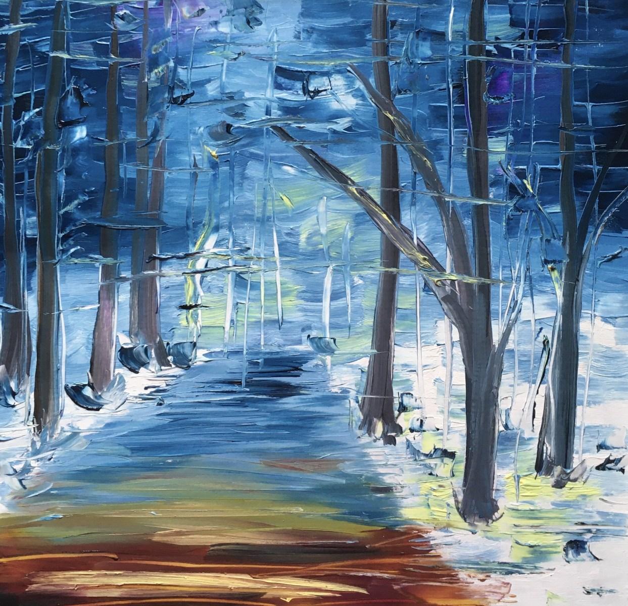 Winterspaziergang beim Landgrafen (30x30) 100 €