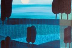 Blaue Ferne (50 x 70 cm) 300€