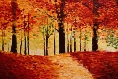 Herbstspaziergang ( 50 x 70 cm) 300 €