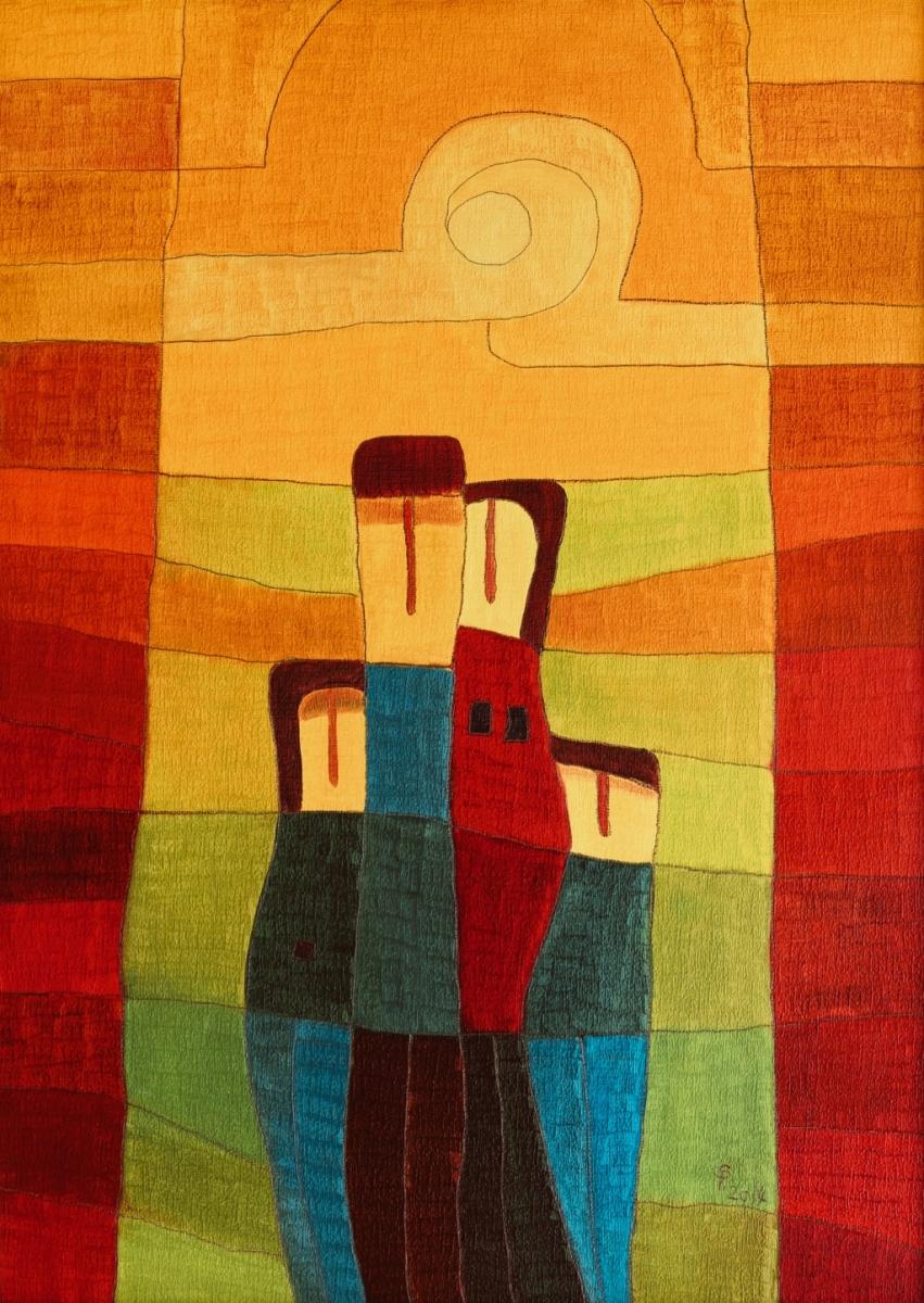 Familie (50 x 70 cm) 300 €