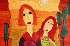 Zwei Frauen ( 50 x 70 cm) 300 €