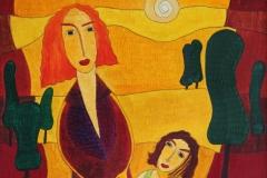 Mutter und Tochter (50 x 70 cm) 300 €