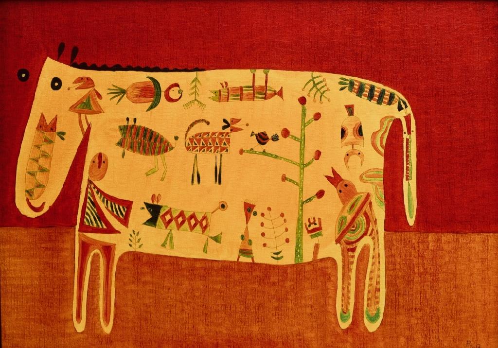 Eine neue Kuh (50x70 cm) 300 €