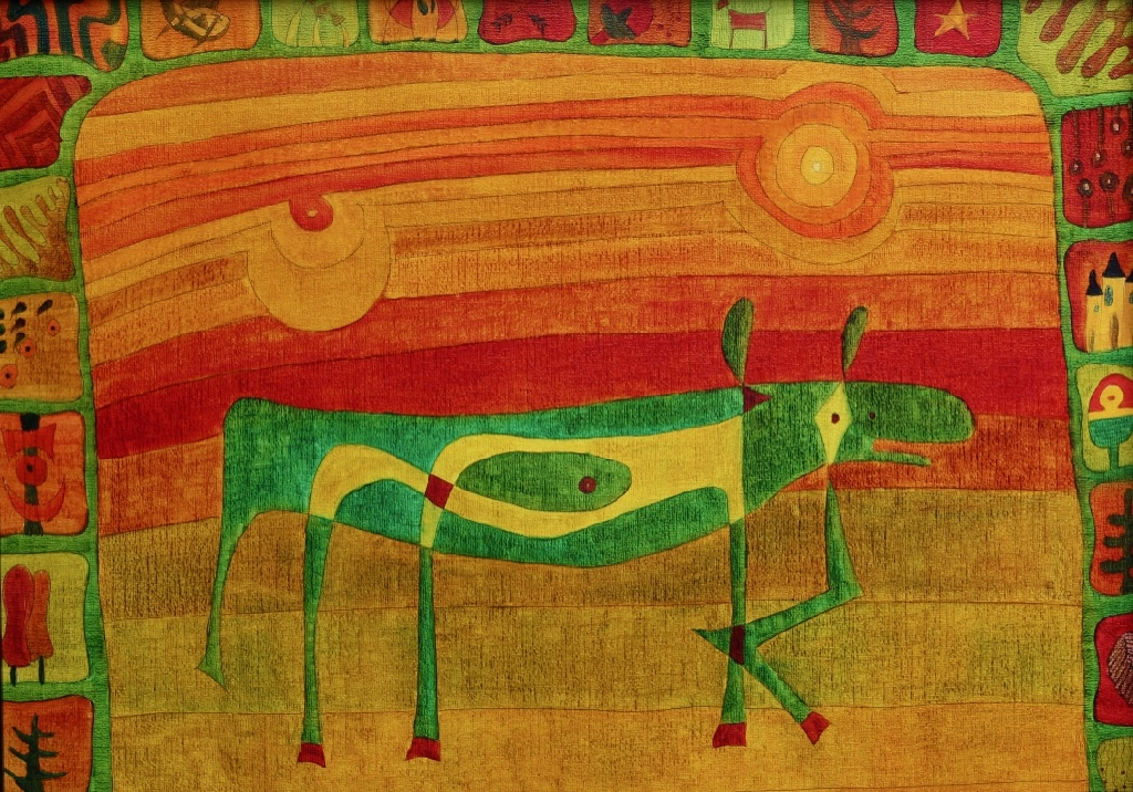 Die schwangere Kuh (50x70 cm) 300 €