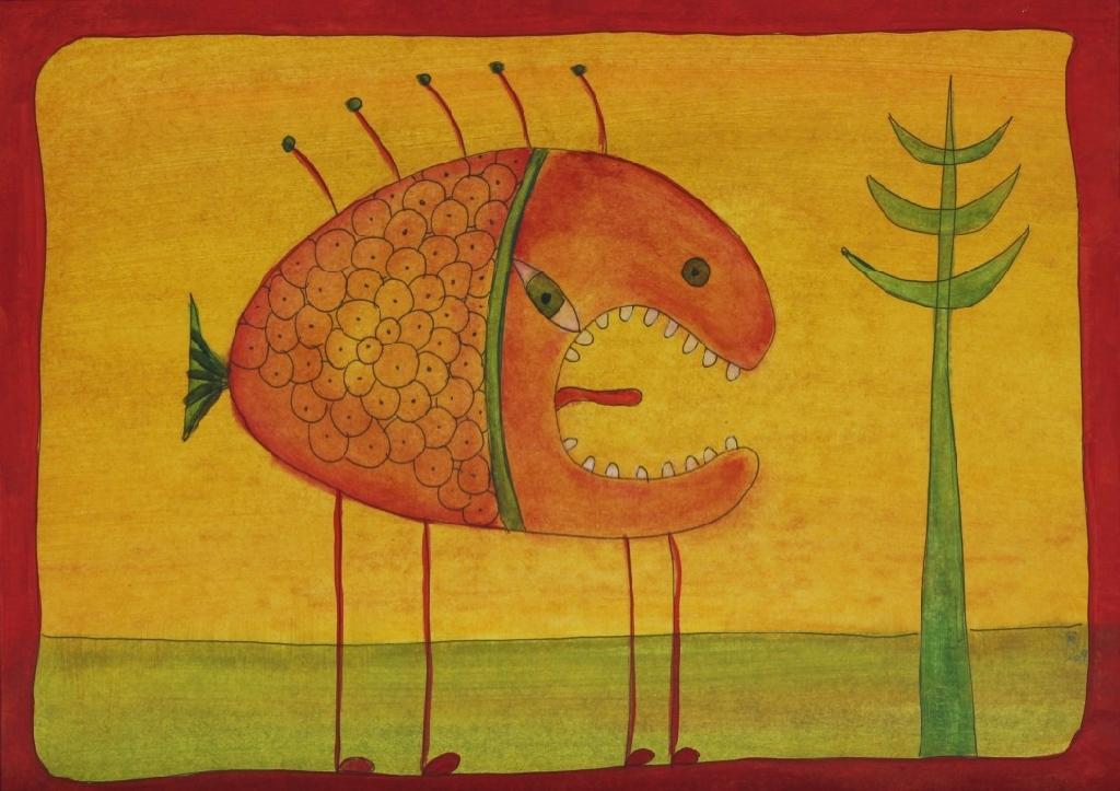 Fisch spricht zu Baum (20 x 29 cm) 55€