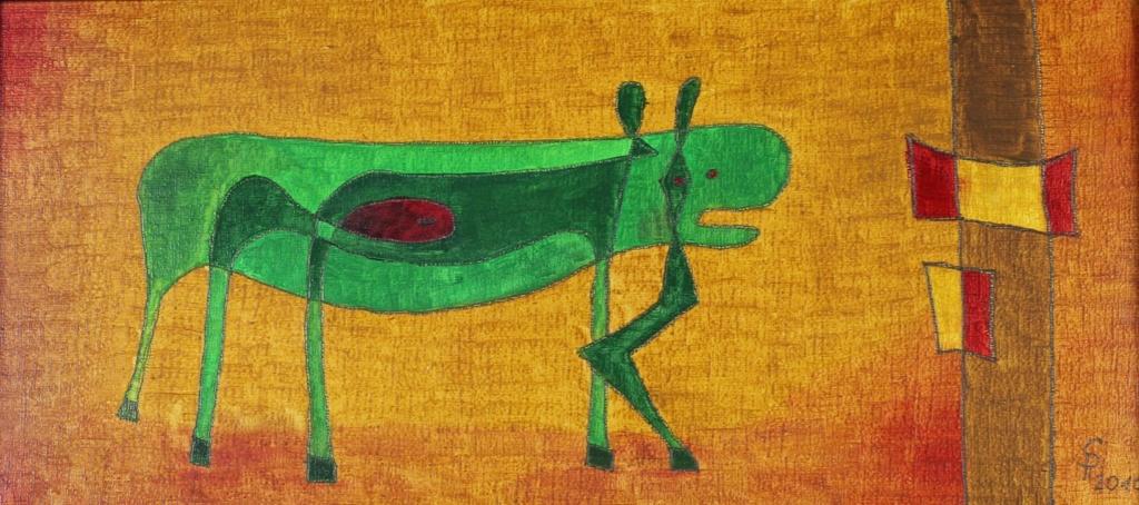 Kleine schwangere Kuh (20 x 40 cm) 85 €