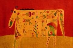 Die aztekische Kuh ( 50 x 70 cm) 300 €