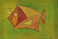 Ein überraschter Fisch (20x30 cm) 85 €